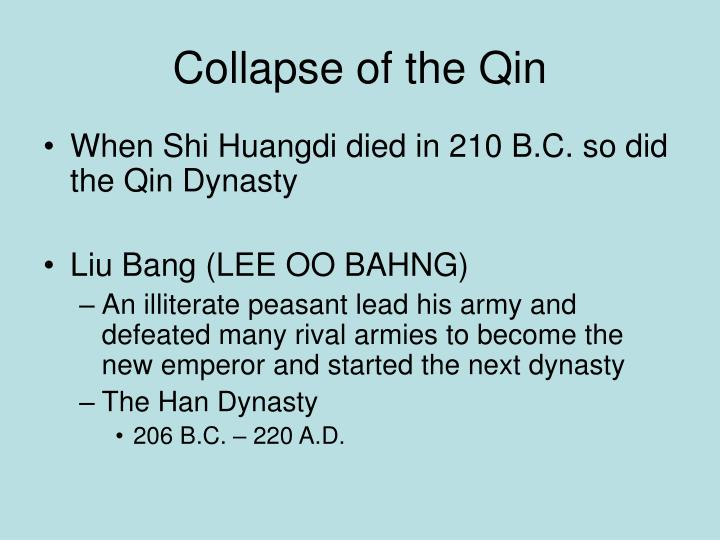 Collapse of the Qin