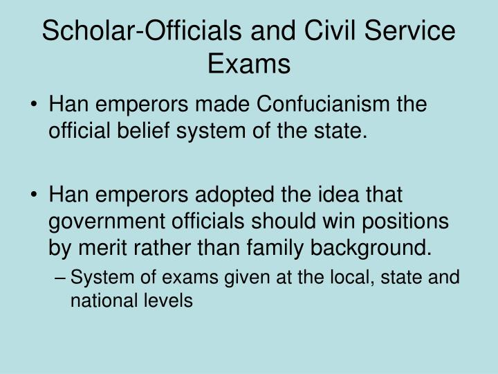 Scholar-Officials and Civil Service Exams