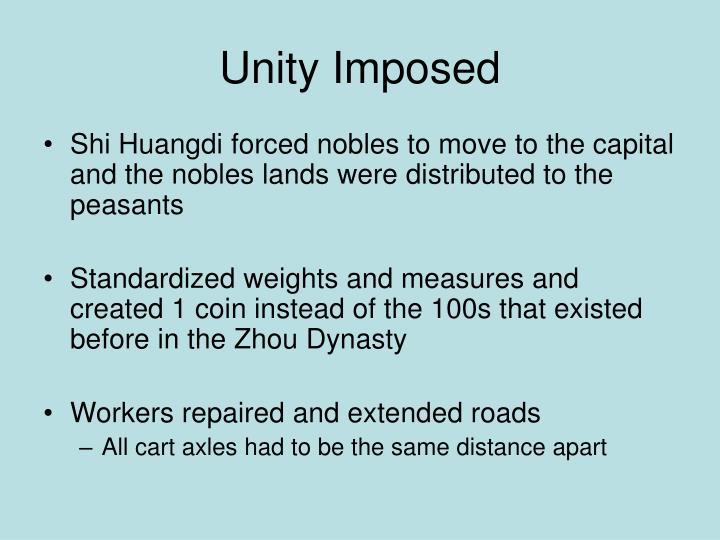 Unity Imposed
