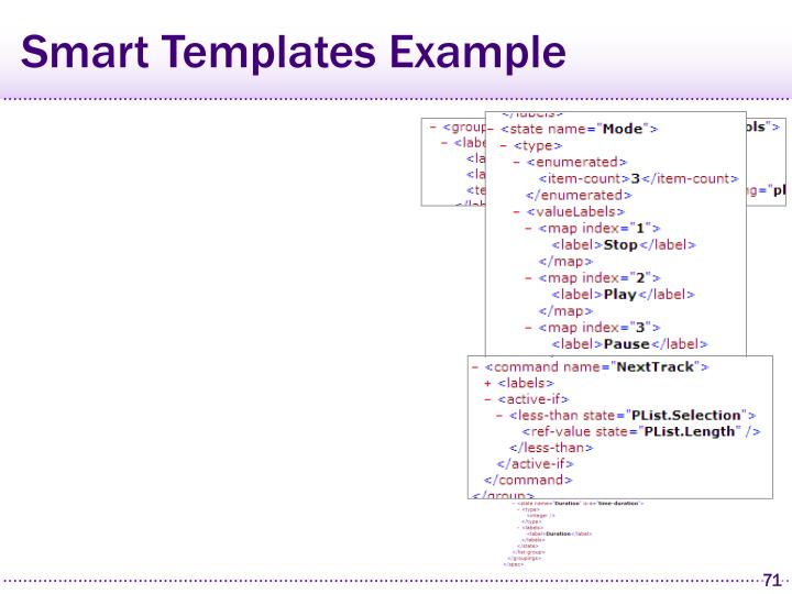 Smart Templates Example