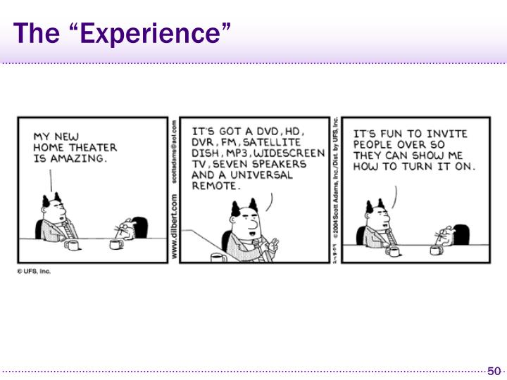 """The """"Experience"""""""
