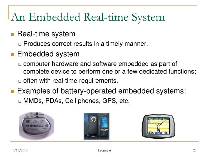 An Embedded Real-time System