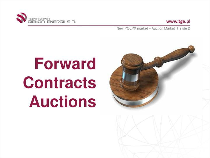 New POLPX market – Auction Market  I  slide