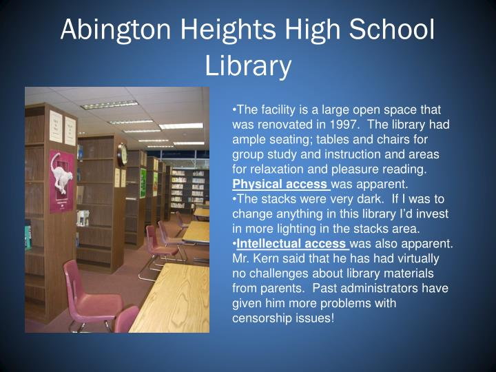 Abington Heights High School Library