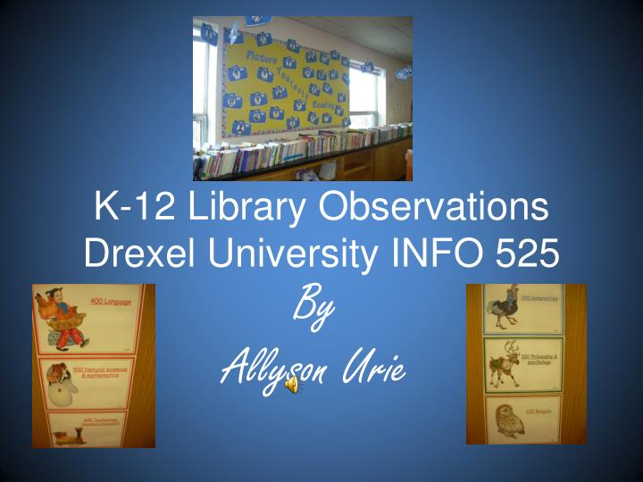 K 12 library observations drexel university info 525