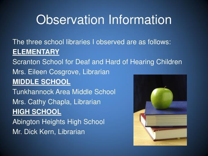 Observation Information