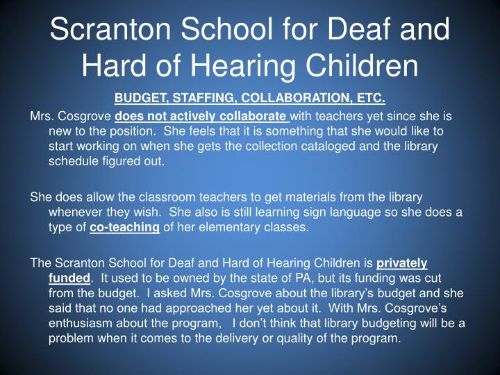 Scranton School for Deaf and Hard of Hearing Children