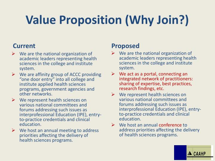 Value Proposition (Why Join?)