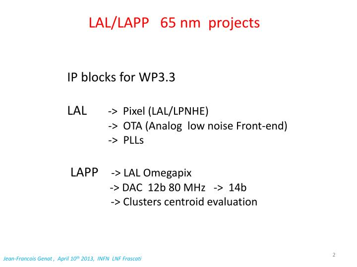 Lal lapp 65 nm projects