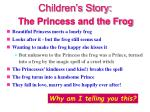 children s story the princess and the frog
