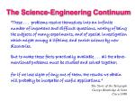 the science engineering continuum