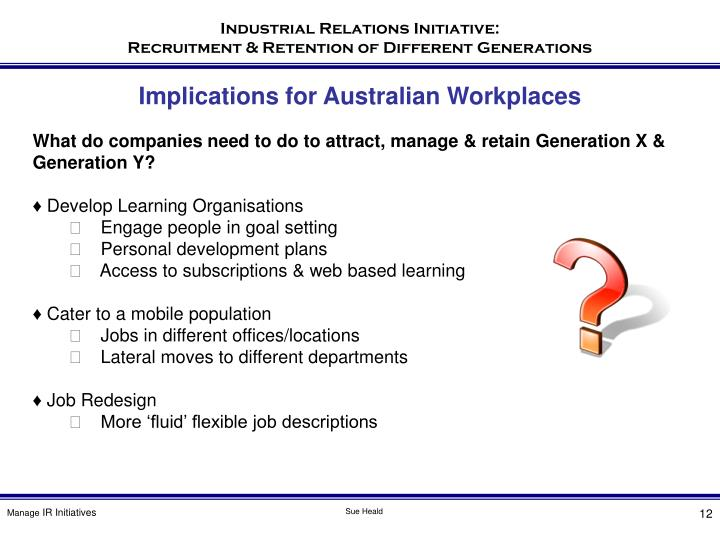 Implications for Australian Workplaces