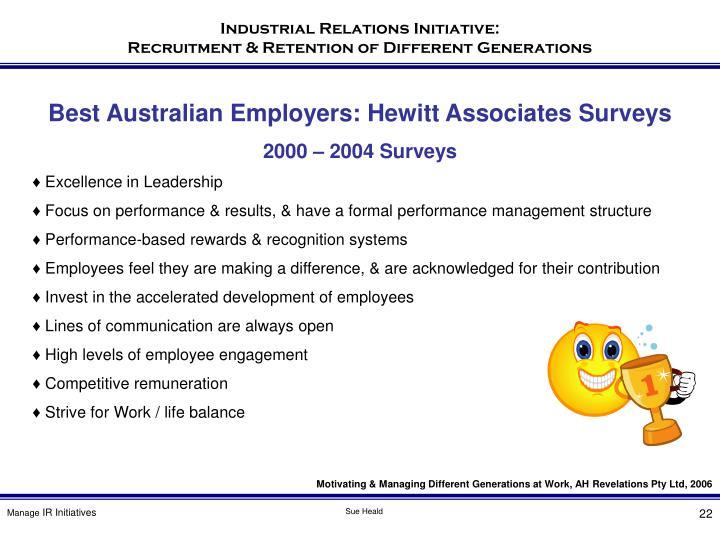 Best Australian Employers: Hewitt Associates Surveys
