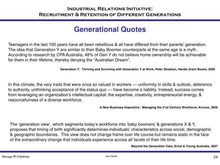 Generational Quotes