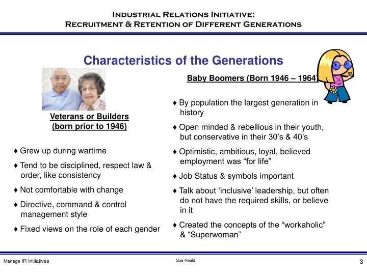 Characteristics of the Generations