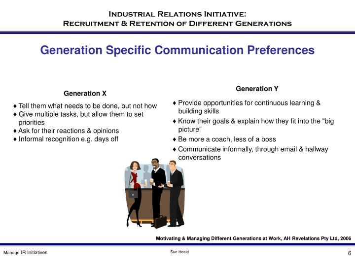 Generation Specific Communication Preferences