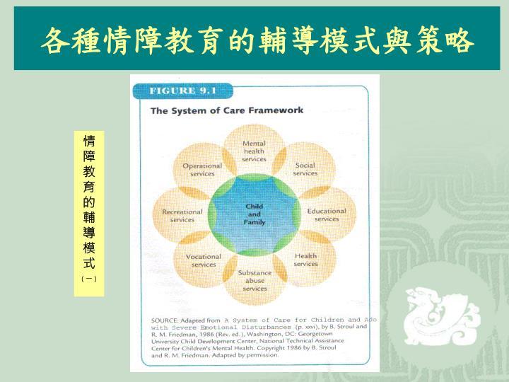 各種情障教育的輔導模式與策略