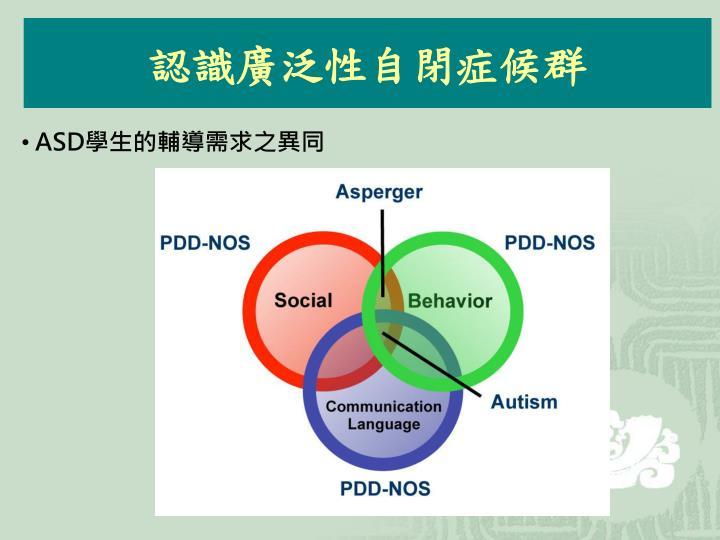 認識廣泛性自閉症候群