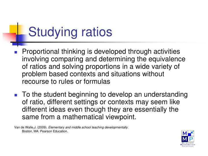 Studying ratios