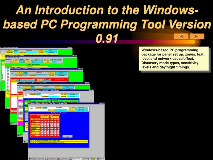 An introduction to the windows based pc programming tool version 0 91
