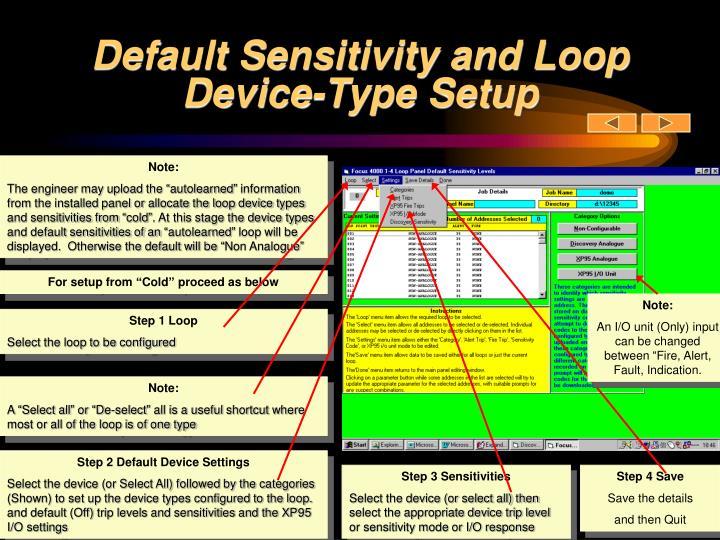 Default Sensitivity and Loop