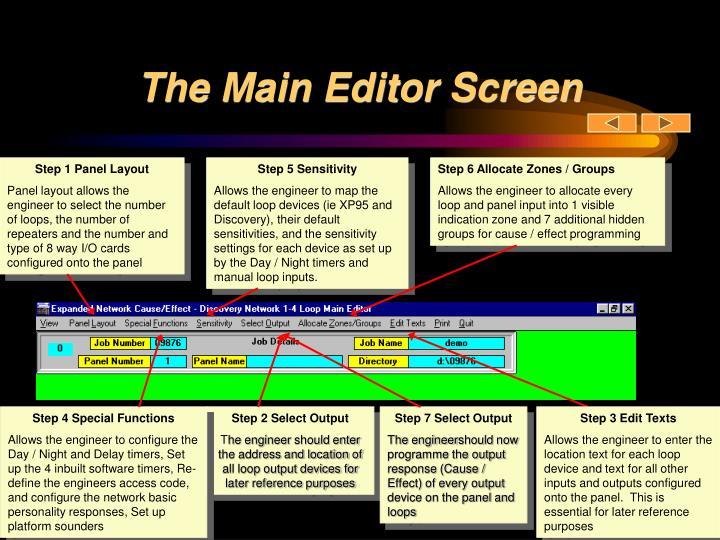 The Main Editor Screen