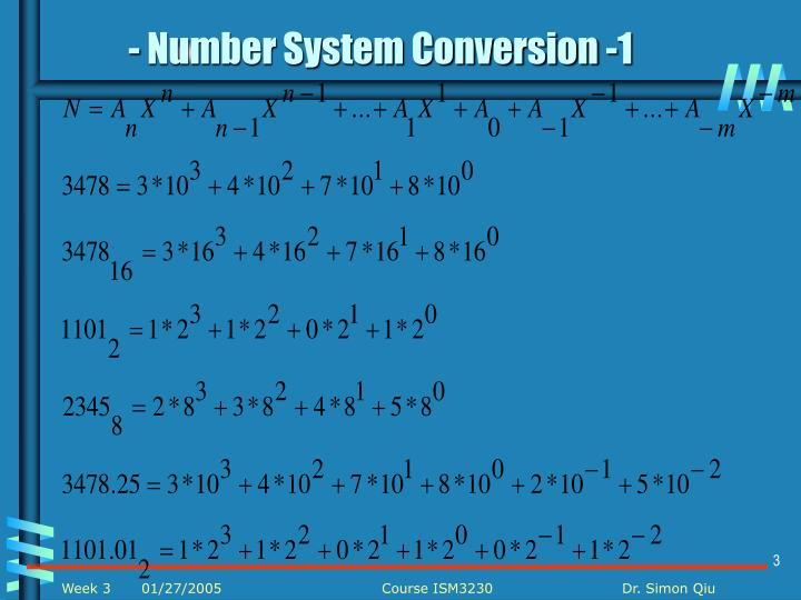 - Number System Conversion -1