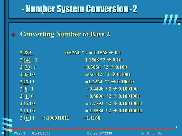 - Number System Conversion -2