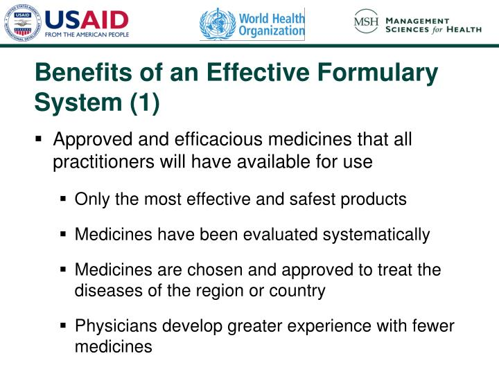 Benefits of an Effective Formulary System (1)