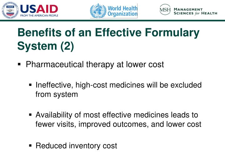 Benefits of an Effective Formulary System (2)