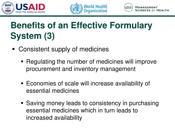 Benefits of an Effective Formulary System (3)