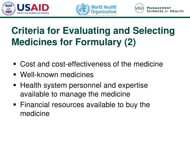 Cost and cost-effectiveness of the medicine