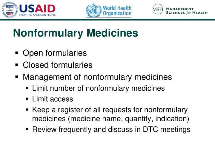 Open formularies