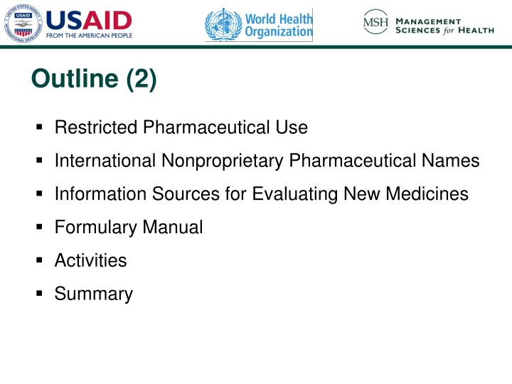 Restricted Pharmaceutical Use