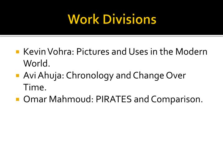 Work Divisions