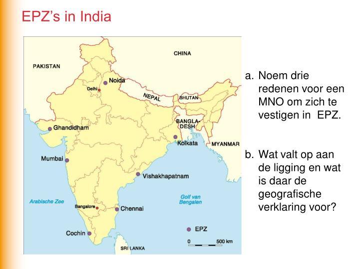 EPZ's in India