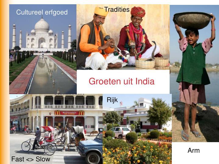 Groeten uit India