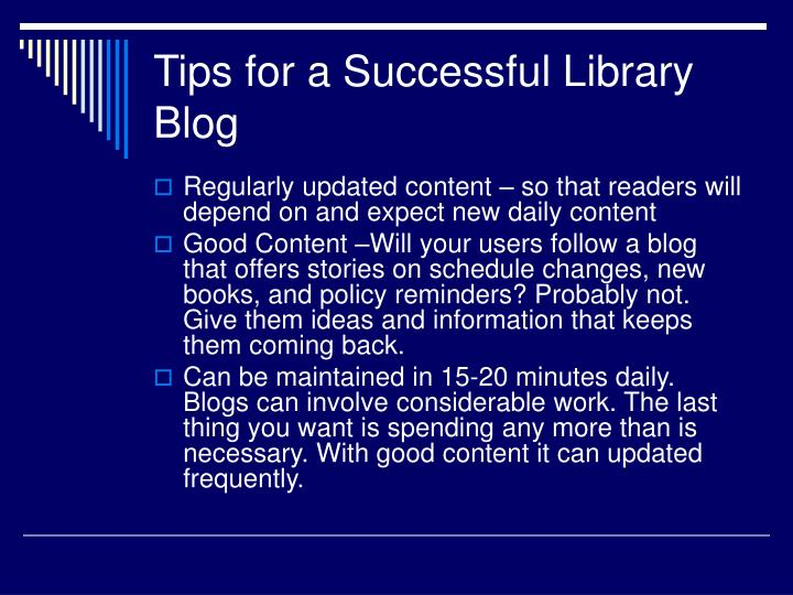 Tips for a Successful Library Blog