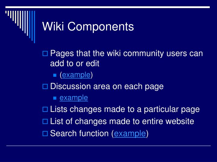 Wiki Components