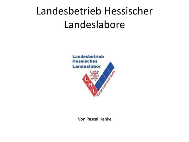 Landesbetrieb Hessischer Landeslabore