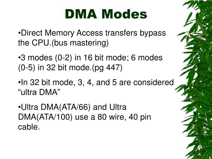 DMA Modes