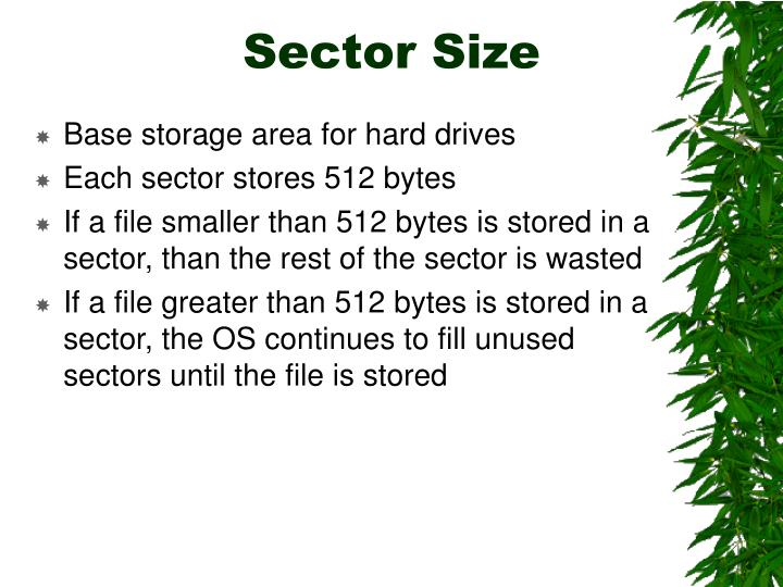Sector Size