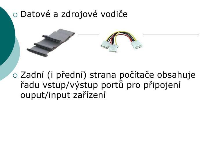 Datové a zdrojové vodiče