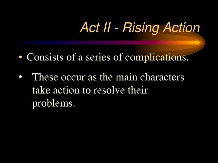 Act II - Rising Action