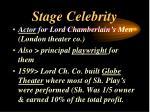 stage celebrity