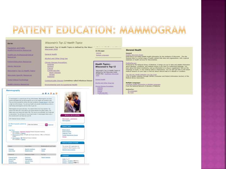 Patient Education: Mammogram