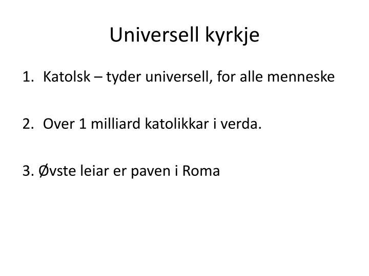 Universell kyrkje