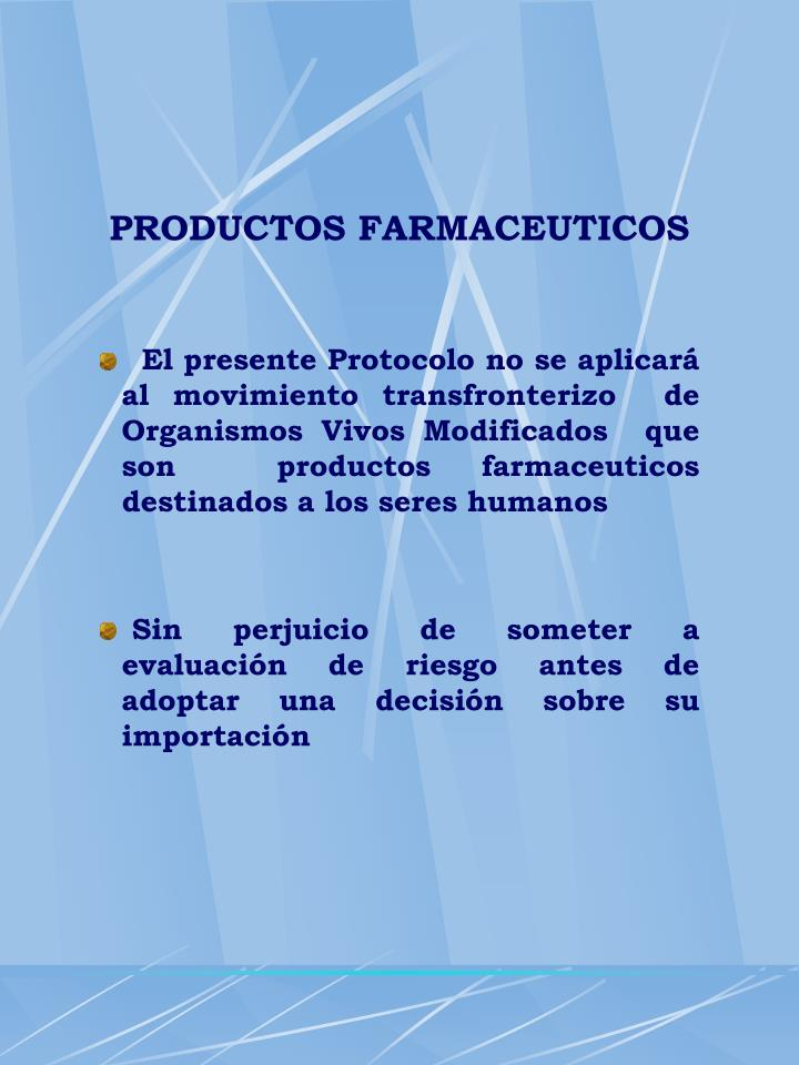 PRODUCTOS FARMACEUTICOS