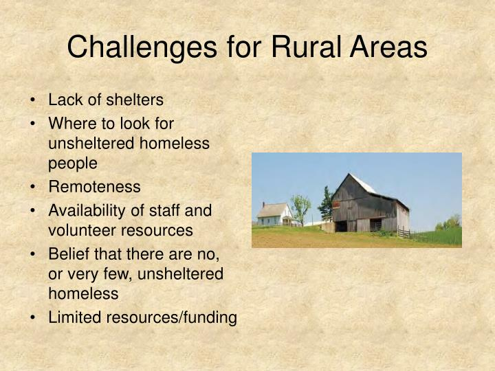 Challenges for Rural Areas
