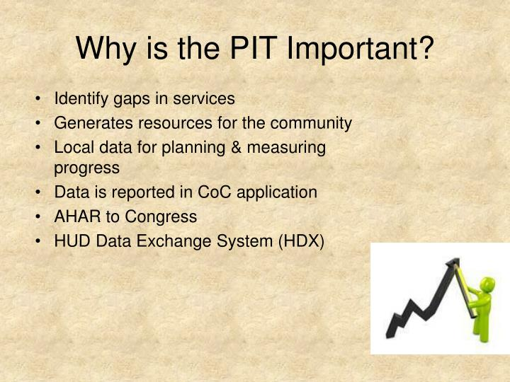 Why is the PIT Important?